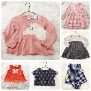 Girl Toddler 6 piece Lot 12M 2T Most NWT